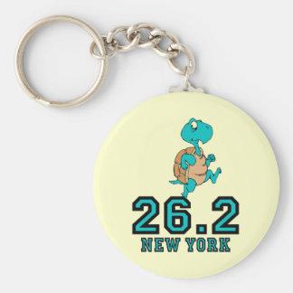 Funny New York marathon Basic Round Button Key Ring