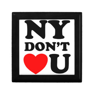 Funny New York Quote Heart Small Square Gift Box