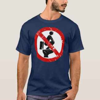 Funny NO Feet on the Seat Vintage ⚠ Thai Sign ⚠ T-Shirt