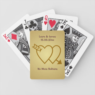 Funny No More Solitaire Wedding Hearts Card Deck Poker Deck