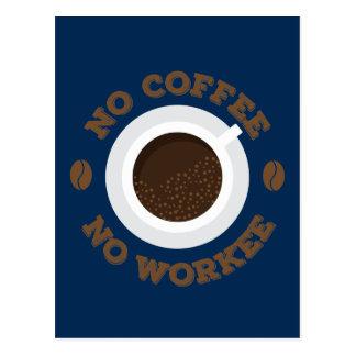 Funny No Morning Coffee No Work  Caffeine Lovers Postcard