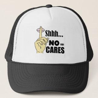 Funny No One Cares Cartoon Trucker Hat