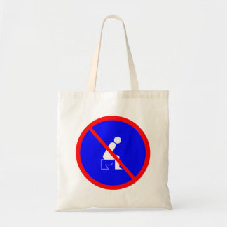 Funny No Sitting On Toilet Sign Bag