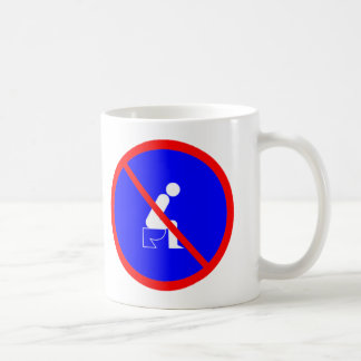 Funny No Sitting On Toilet Sign Cup Basic White Mug
