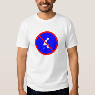 Funny No Sitting On Toilet Sign T Shirt