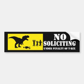 Funny No Soliciting T-Rex Bumper Sticker