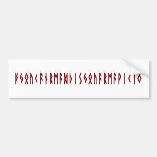 Funny Nordic Rune Bumper Sticker