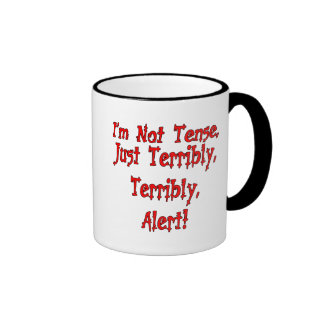 Funny Not Tense T-shirts Gifts Ringer Mug