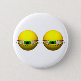 Funny Novelty Button with Tired Eyes