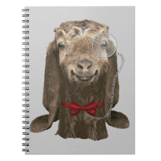 Funny Nubian Goat With Monocle Note Books