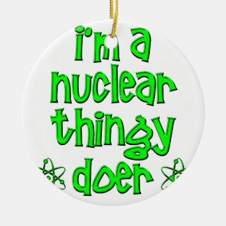 funny nuclear ceramic ornament