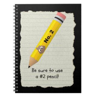 Funny Number 2 Poo Pencil Poop Emoji Notebook