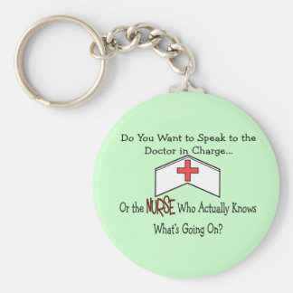 Funny Nurse Gifts Basic Round Button Key Ring
