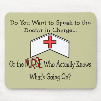 Funny Nurse Gifts Mouse Mat