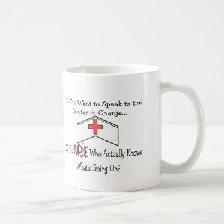 Funny Nurse Gifts Basic White Mug
