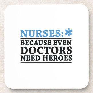 Funny Nurse Hero RN Nurse  Nursing Coaster