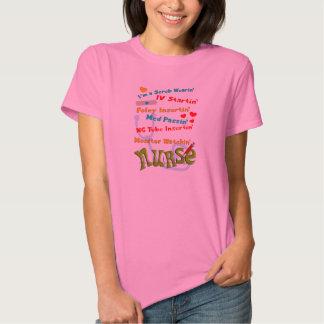 Funny Nurse Humor T-Shirts Pink