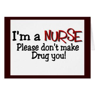 how to make a drug card for nurses