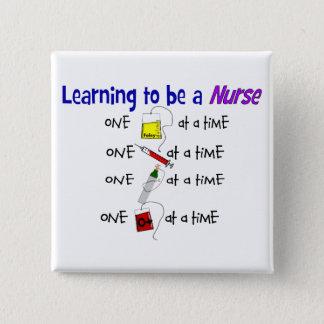 Funny Nursing Student Button