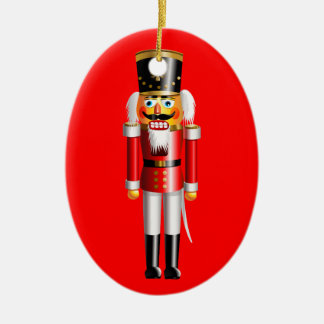 Funny Nutcracker Ceramic Oval Decoration