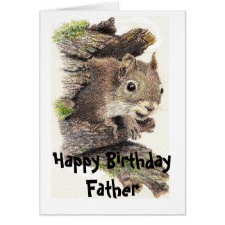 Funny, Nutty Father Birthday Squirrel Card