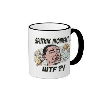 Funny Obama Sputnik Moment Ringer Coffee Mug