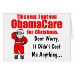 Funny ObamaCare Christmas Greeting Greeting Card