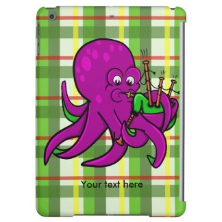 Funny Octopus Bagpipes Illustration