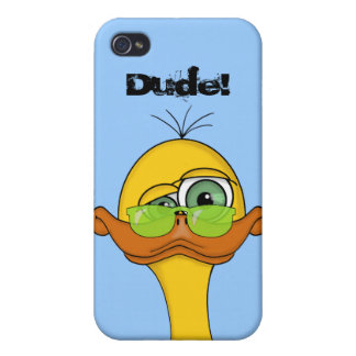 Funny Odd Duck Cartoon iPhone 4 Cover
