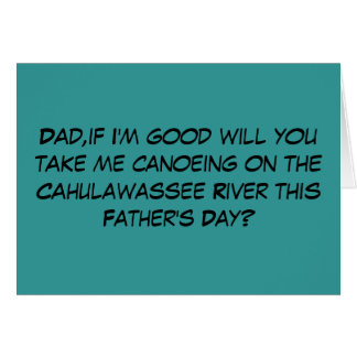 Funny offensive Deliverance theme Father s Day Greeting Cards