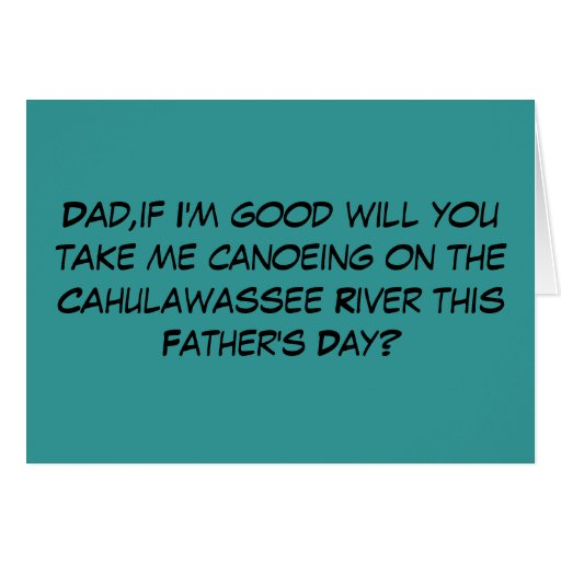 Funny,offensive Deliverance theme Father's Day Greeting Cards