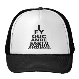Funny offensive dyslexic hats