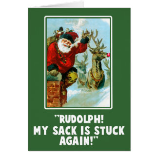 Funny Offensive Innuendo Christmas Card