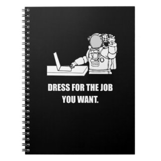 Funny Office Gifts, Nerd Gifts. Astronaut. Humor. Notebook