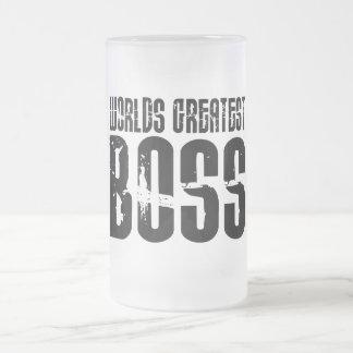 Funny Office Humor Bosses : World's Greatest Boss Frosted Glass Beer Mug