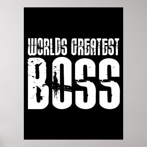 Funny Office Humor Bosses : World's Greatest Boss Print