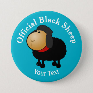 Funny Official Black Sheep Button