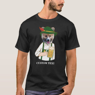 Funny Oktoberfest Corgi Dog and German Beer Lover T-Shirt