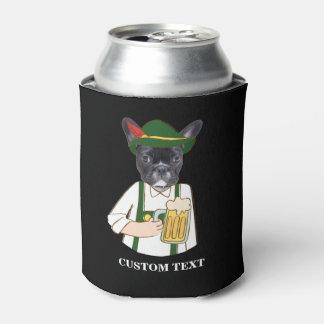 Funny Oktoberfest French Bulldog Beer Lover Custom Can Cooler