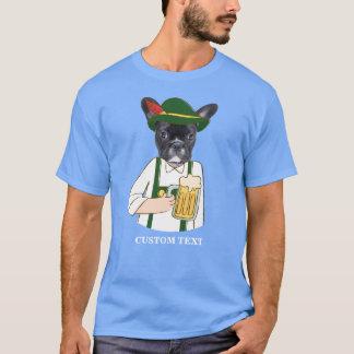 Funny Oktoberfest French Bulldog Beer Lover Custom T-Shirt