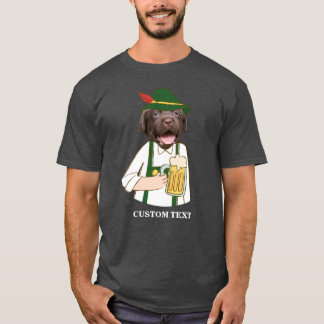 Funny Oktoberfest Labrador Dog Beer Lover Custom T-Shirt