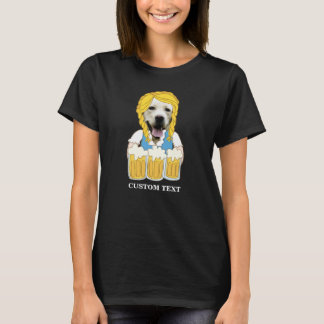 Funny Oktoberfest Yellow Lab Dog Beer Lover Custom T-Shirt