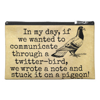 Funny Old Age Twitter Bird Pigeon Travel Accessories Bag