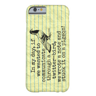 Funny Old Age Twitter Bird Pigeon Barely There iPhone 6 Case