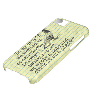 Funny Old Age Twitter Bird Pigeon iPhone 5C Case