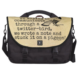 Funny Old Age Twitter Bird Pigeon Computer Bag