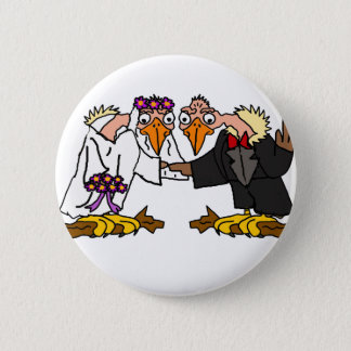 Funny Old Buzzard Wedding Cartoon Art 6 Cm Round Badge