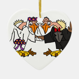 Funny Old Buzzard Wedding Cartoon Art Ceramic Ornament