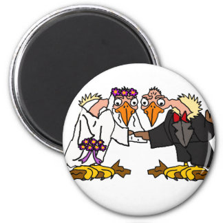 Funny Old Buzzard Wedding Cartoon Art Magnet