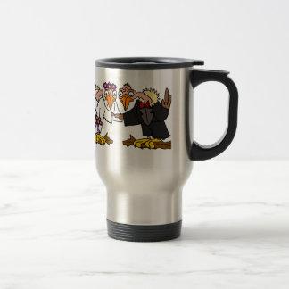 Funny Old Buzzard Wedding Cartoon Art Travel Mug